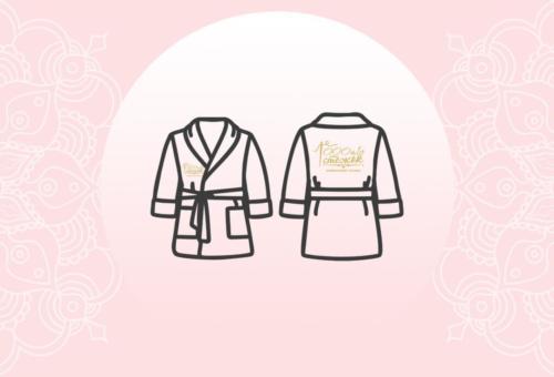 Детские именные халаты с вышивкой